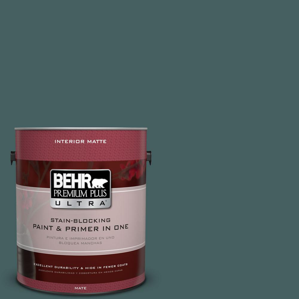 BEHR Premium Plus Ultra 1 gal. #BXC-15 Green Mallard Matte Interior Paint