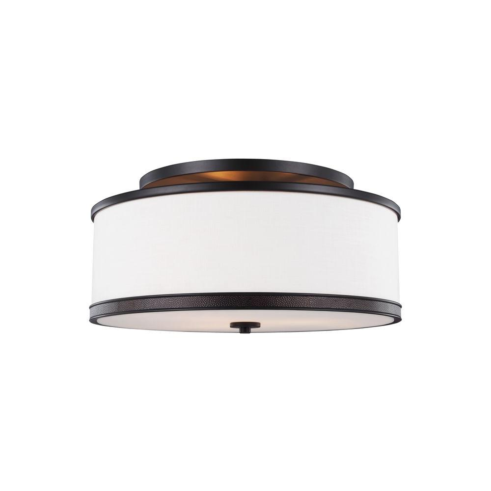 Marteau 3-Light Oil Rubbed Bronze Ceiling Fixture