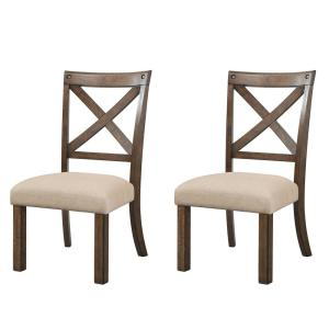 Francis Chestnut Wooden Side Chair Set