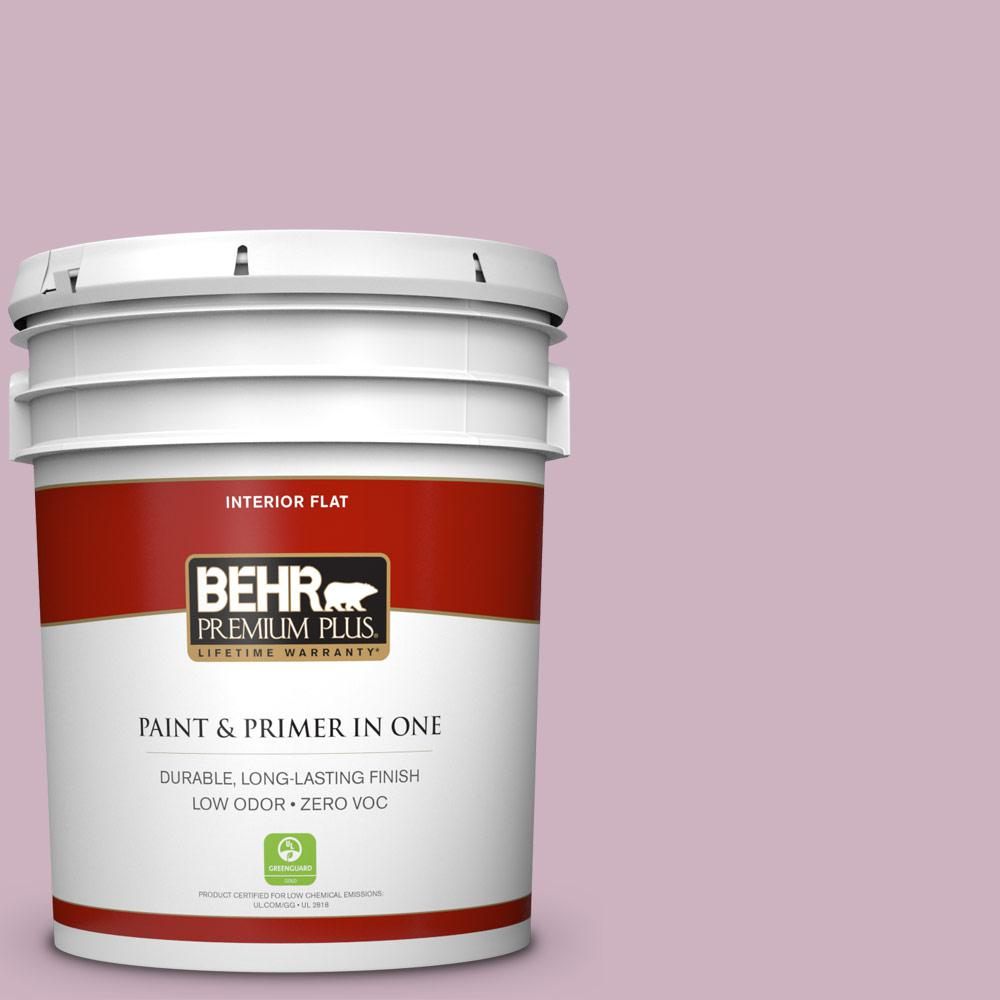 BEHR Premium Plus 5-gal. #S120-3 Candlelight Dinner Flat Interior Paint