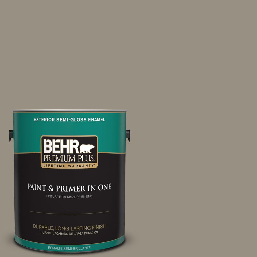 1-gal. #N320-5 Gray Squirrel Semi-Gloss Enamel Exterior Paint