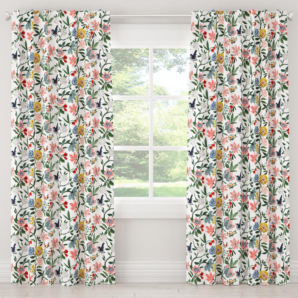 50 in. W x 96 in. L Blackout Curtain in Cari Garden Rose