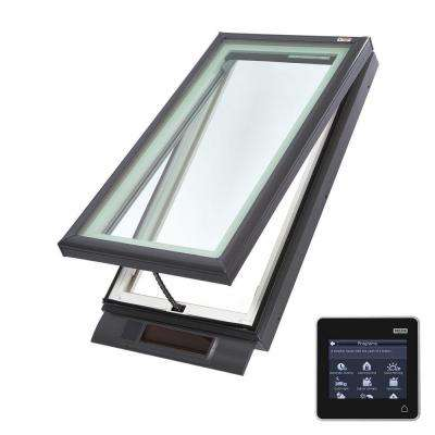 22-1/2 in. x 46-1/2 in. Solar Powered Fresh Air Venting Curb-Mount Skylight with White Laminated Low-E3 Glass