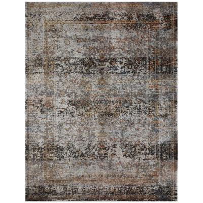 Camilla Greys/Browns 8 ft. 9 in. x 11 ft. 10 in. Area Rug
