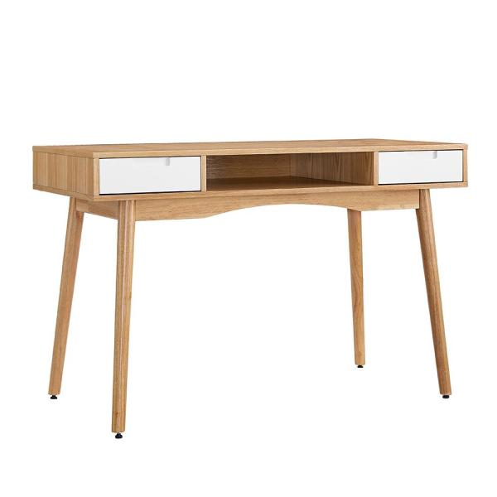 Linon Home Decor Marshall Natural And White Desk