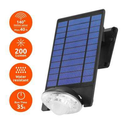 170-Lumen Motion Activated Outdoor Adjustable LED 6500K Solar Powered Landscape Flood Light Wall Mount or Ground Light