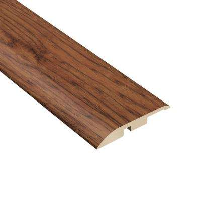 Burnished Hickory 7/16 in. Thick x 1-5/16 in. Wide x 94 in. Length Vinyl Multi-Purpose Reducer Molding