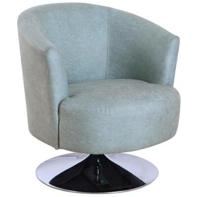Tustin Teal Fabric Leisure Accent Chair