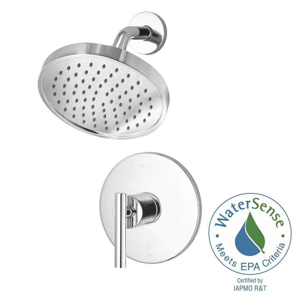 Pfister Contemporary 1-Handle Shower Faucet Trim Kit in Polished ...