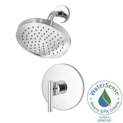 Contemporary 1-Handle Shower Faucet Trim Kit in Polished Chrome (Valve Not Included)