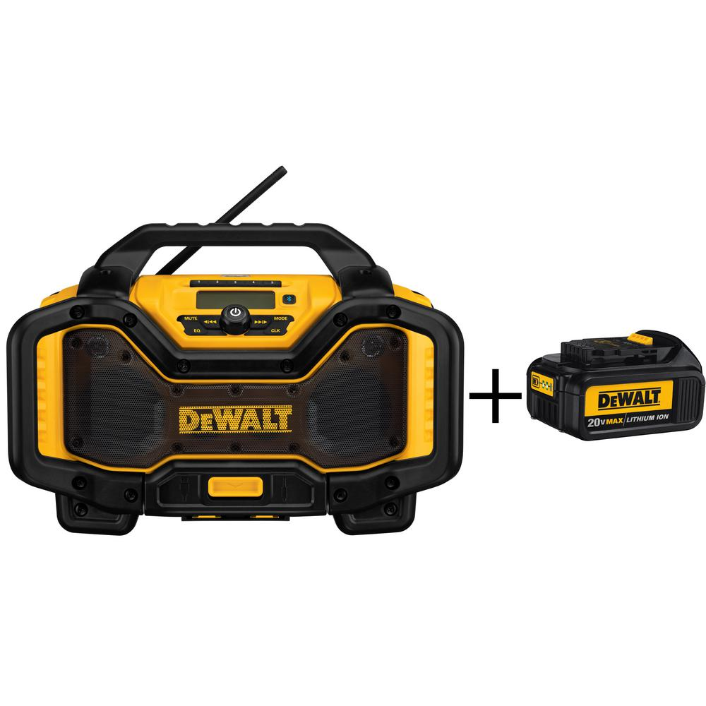 20-Volt or 60-Volt Lithium-Ion Battery Charger and Bluetooth Radio with 3Ahr