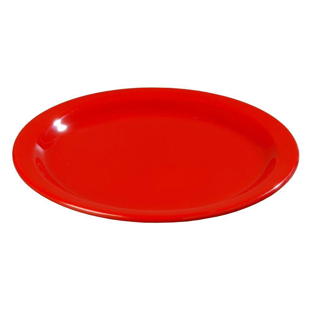 7.25 in. Diameter Melamine Salad Plate in Red (Case of 48)
