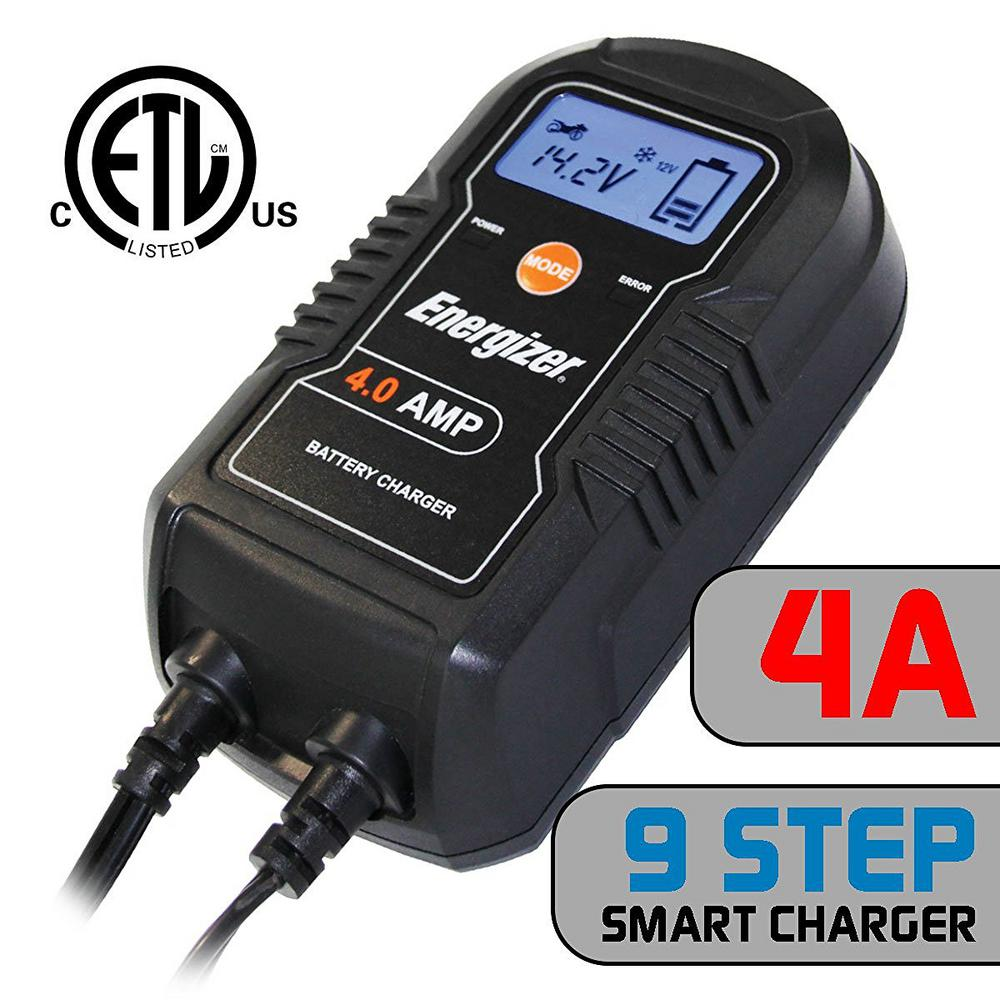 Energizer 4 Amp Charger Enc4a The Home Depot Two 6 Volt Batteries In Series Will Give You A 12v Circuit This