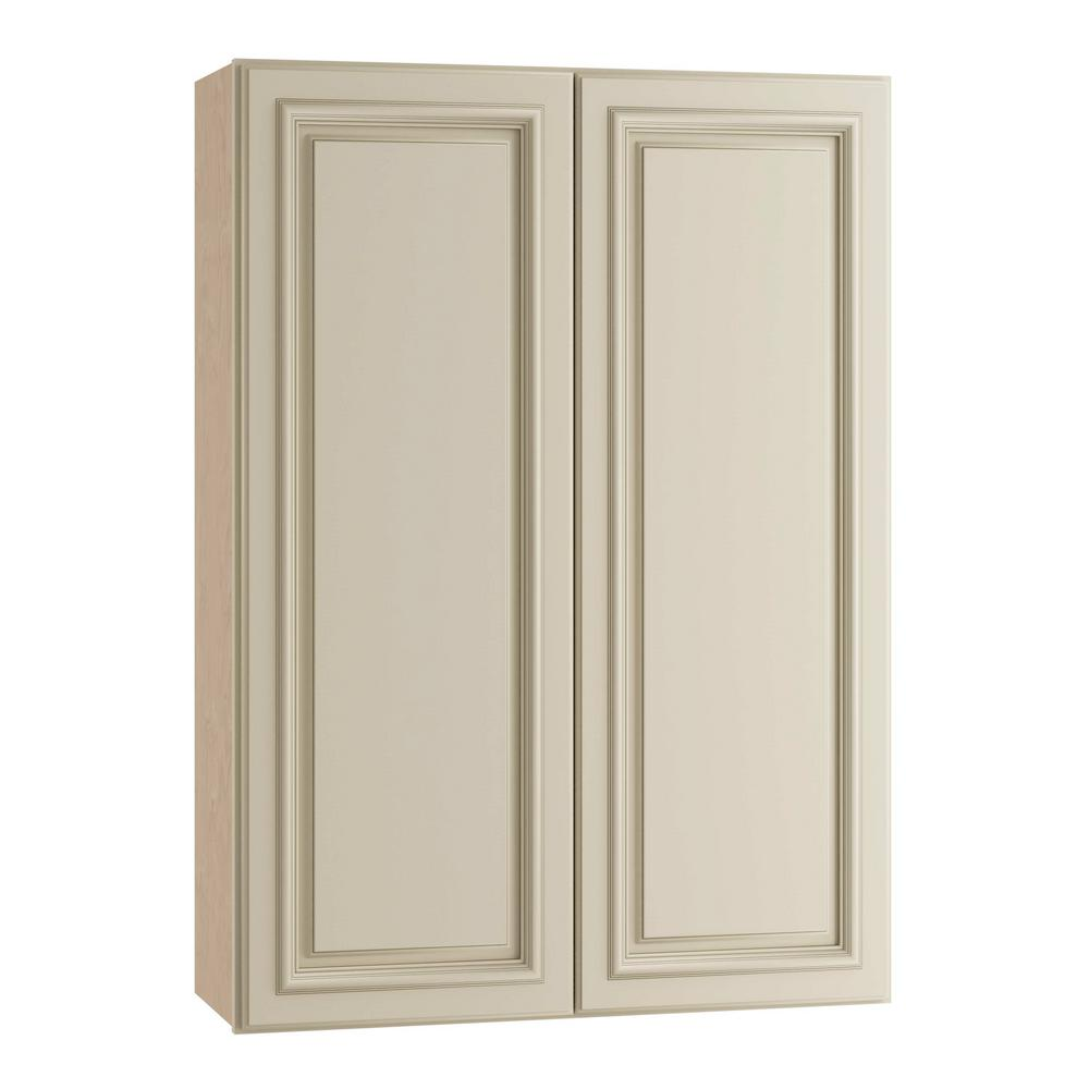 Holden Assembled 30x42x12 in. Double Door Wall Kitchen Cabinet in Bronze