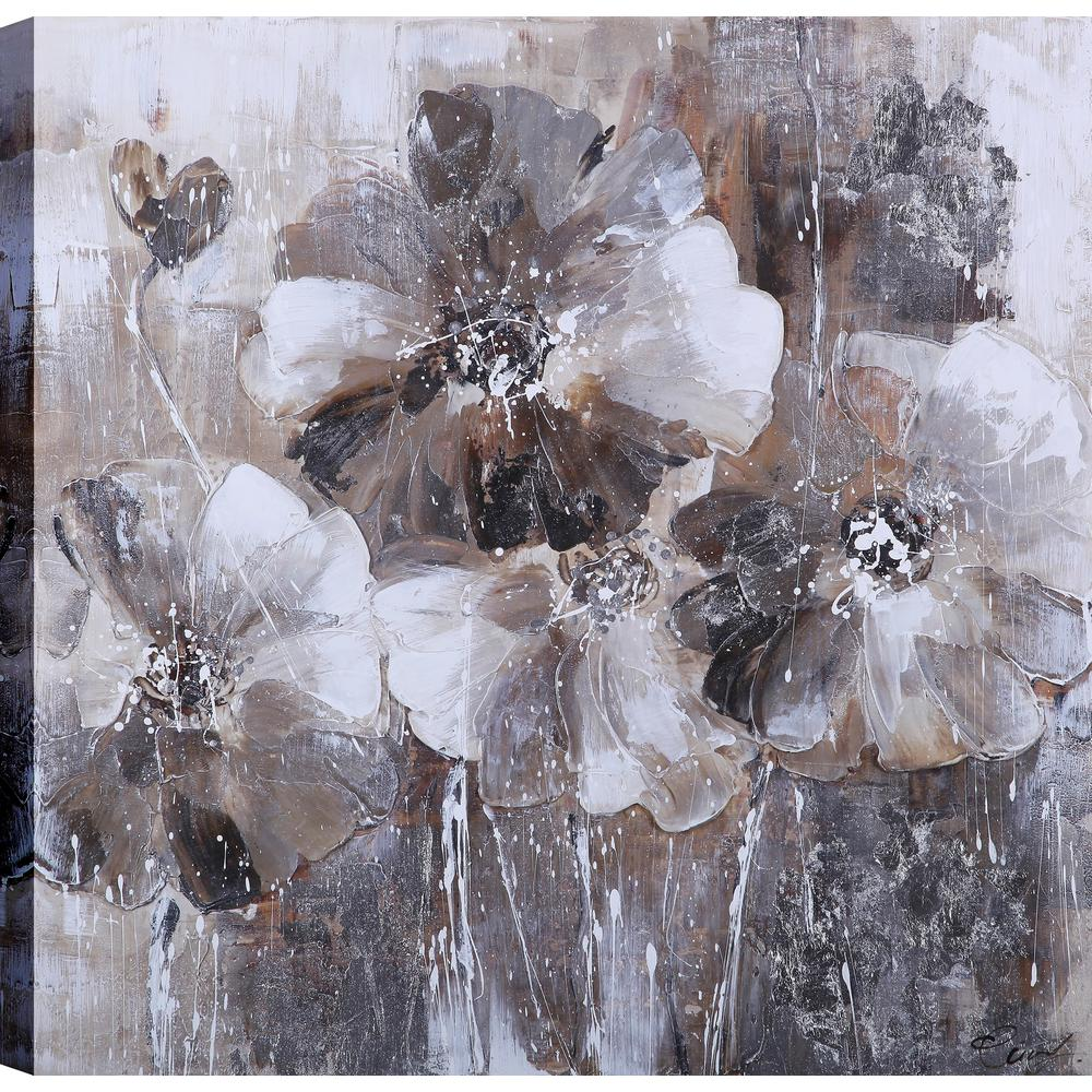 Artmaison Canada Black And White Flower Love Blossoms Ii Floral Art