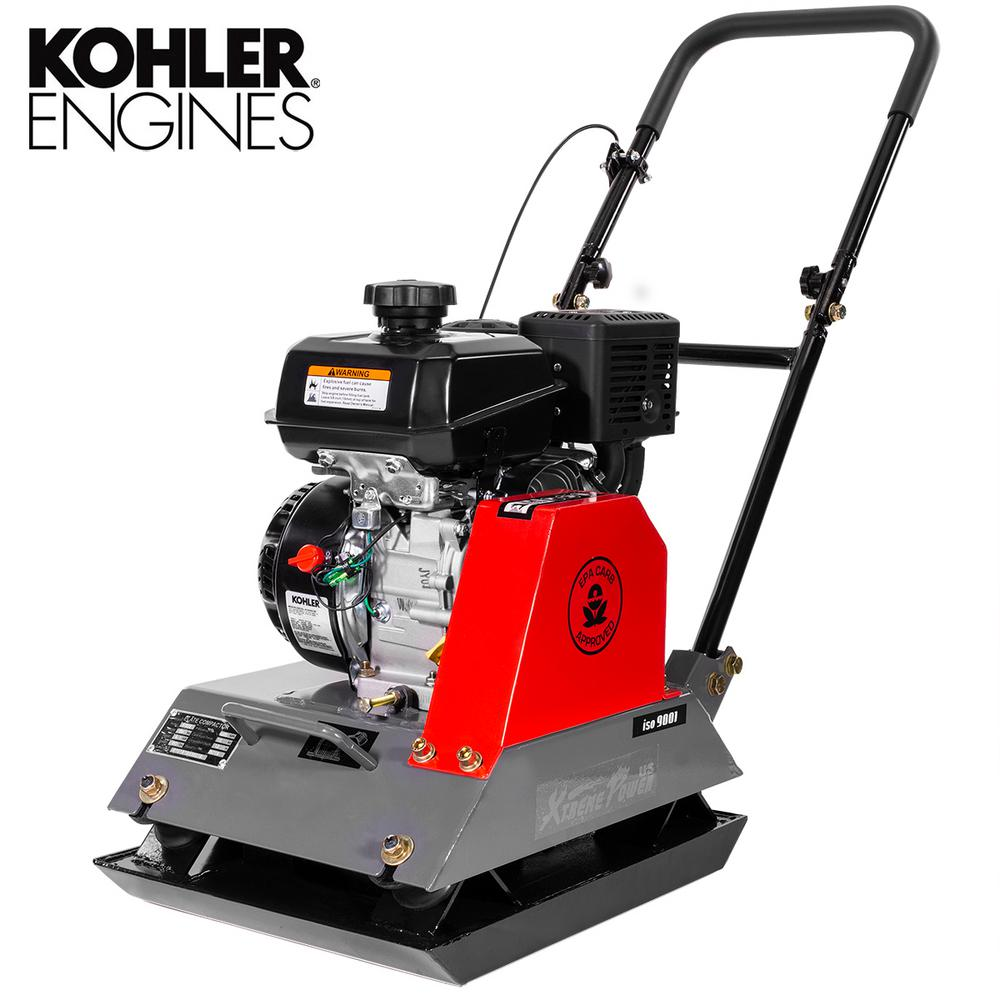 XtremepowerUS 6 HP 208 cc Kohler Gas Engine Walk-Behind Vibratory Tamper Plate Compactor 3400 lbs Compaction Force