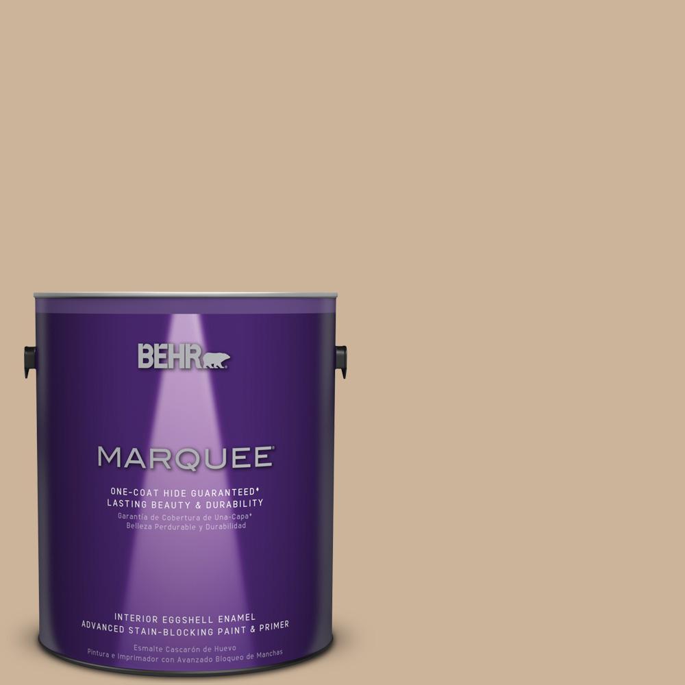 1 gal. #T17-03 Sepia Filter Eggshell Enamel Interior Paint