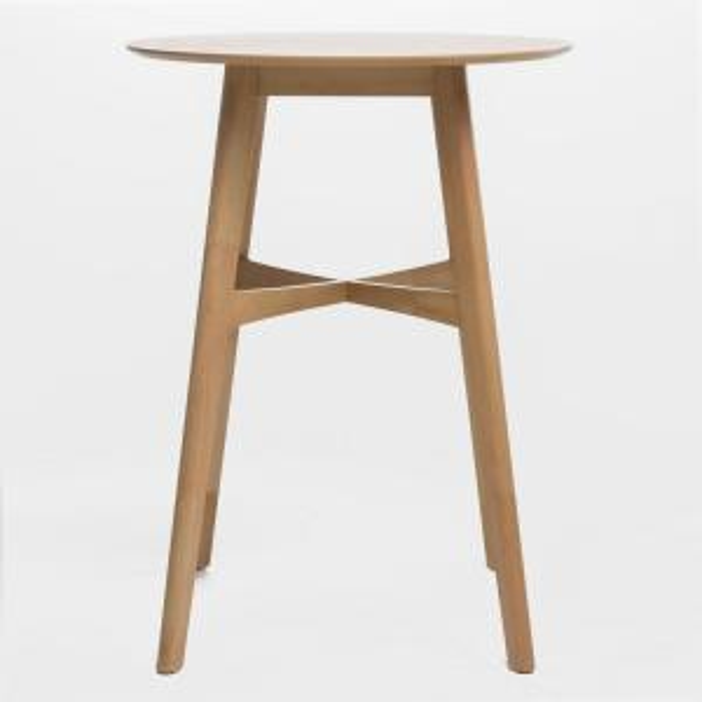 Natural Brown Wood Bar Table
