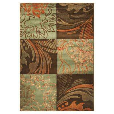 Fauna Patchwork Blue/Brown 5 ft. 3 in. x 7 ft. 8 in. Area Rug