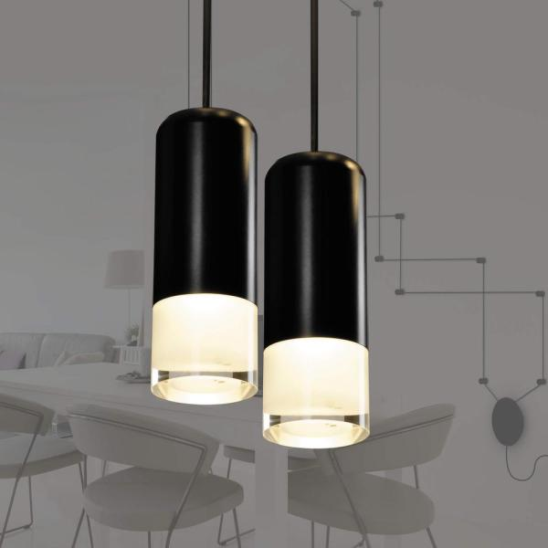 Expression 10-Watt Black Plug-In or Hardwired Integrated LED Wall Sconce with Dimming Options