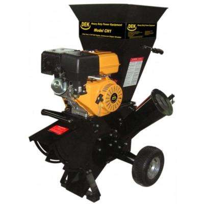 DEK 15 HP 420cc Commercial Duty Chipper Shredder with 4 in. Diameter Feeder - with Trailer Hitch