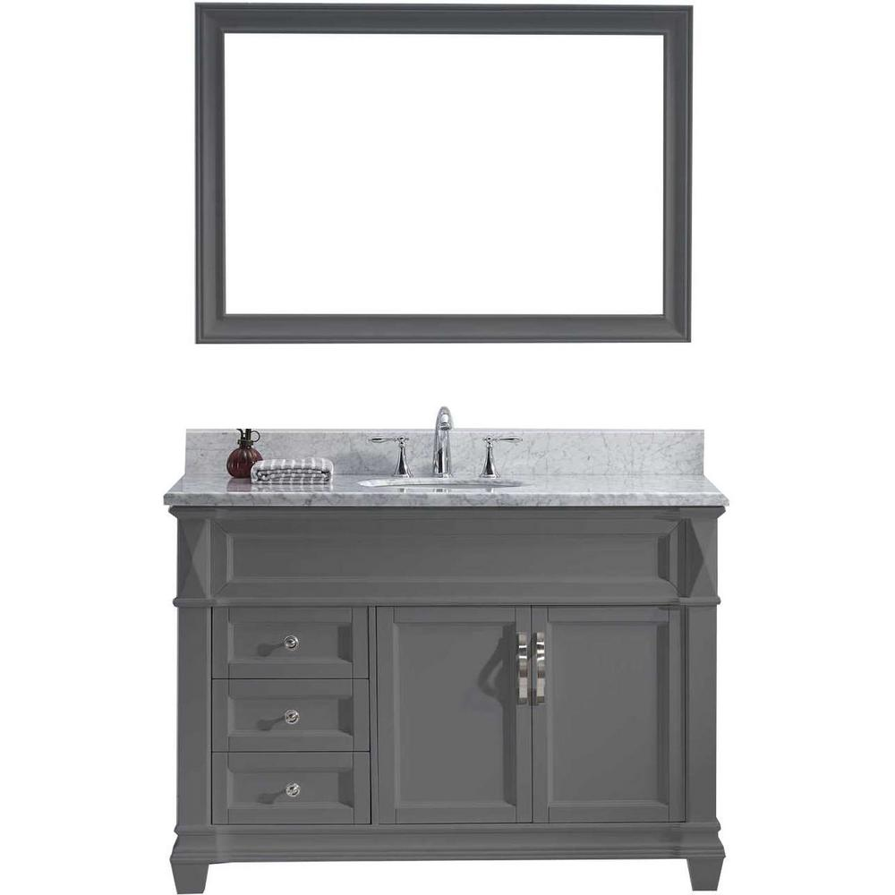 Virtu Usa Victoria 49 In W Bath Vanity Gray With Marble Top