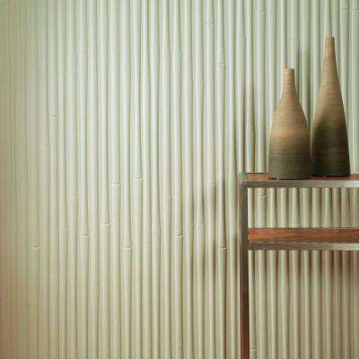 96 in. x 48 in. Bamboo Decorative Wall Panel in Matte White
