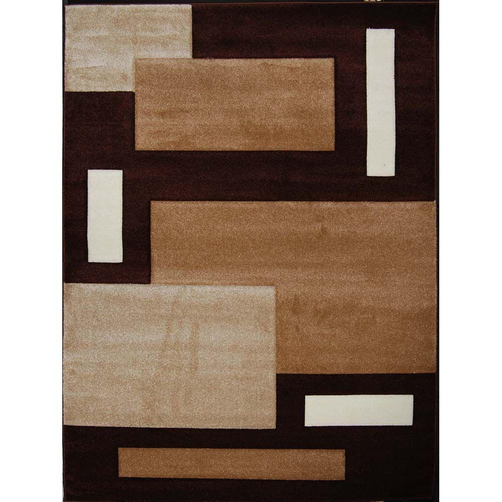 Home Dynamix Sumatra Brown 7 ft. 10 in. x 10 ft. 2 in. Area Rug