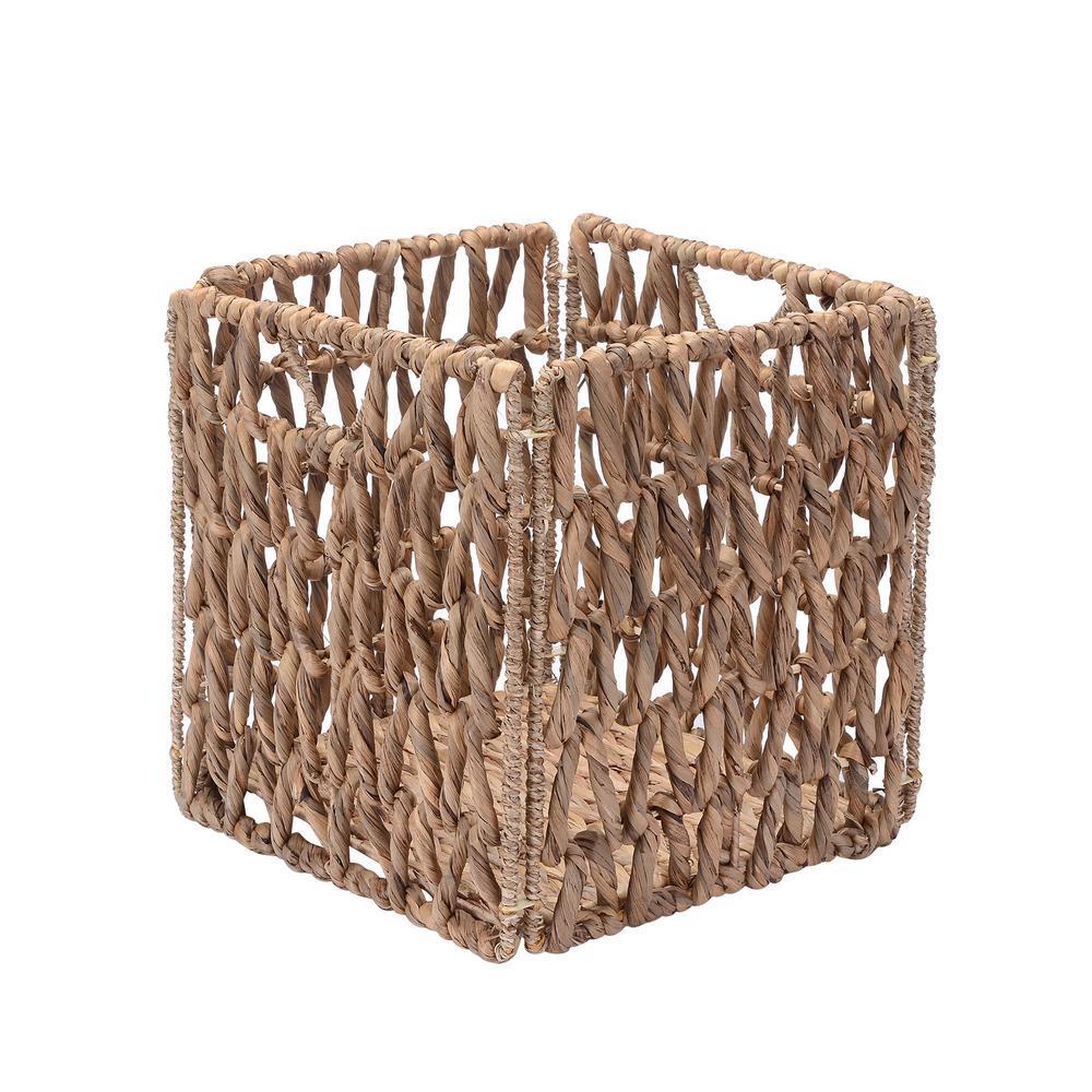 Sea Grass Square Storage Basket Metal Wire Frames Home Kitchen Hampers Craft