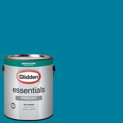 1 gal. #HDGB40D Pacific Turquoise Semi-Gloss Interior Paint