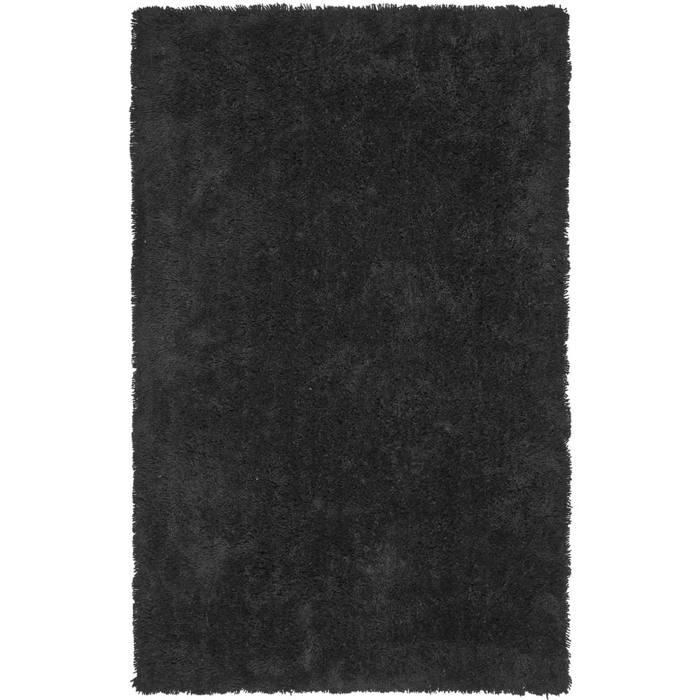 Classic Shag Ultra Black 7 ft. 6 in. x 9 ft.