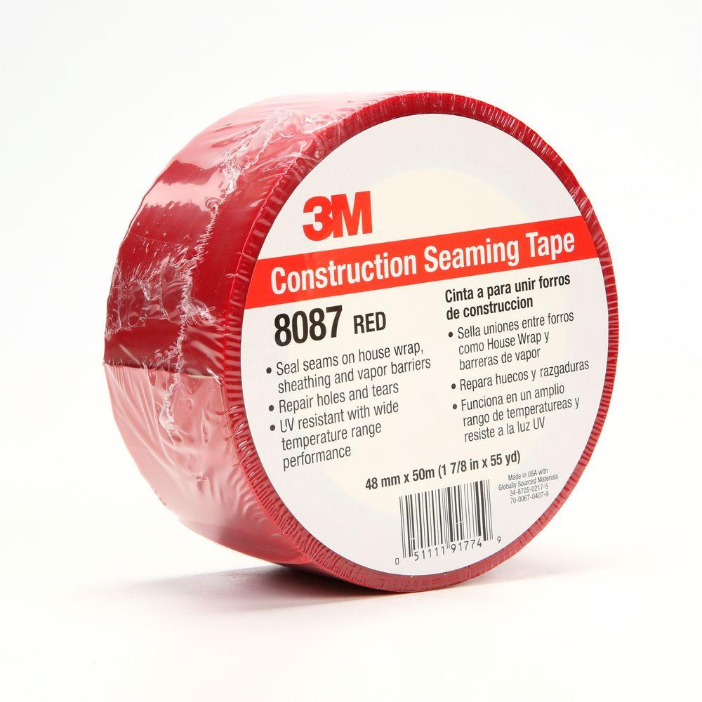 1.88 in. x 55 yds. Red Construction Seaming Tape