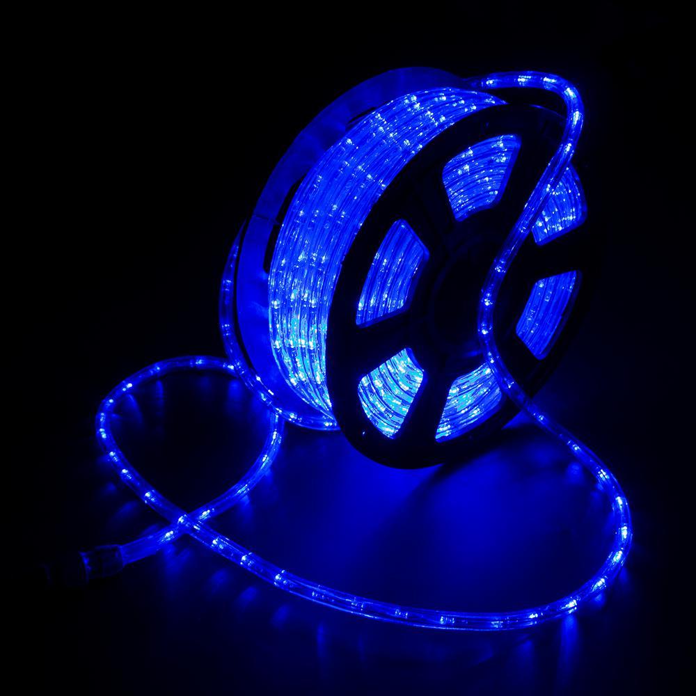 Outdoor 100 ft. 110-Volt Plug-In Blue Color Changing Light LED Rope Light Color Changing Lights