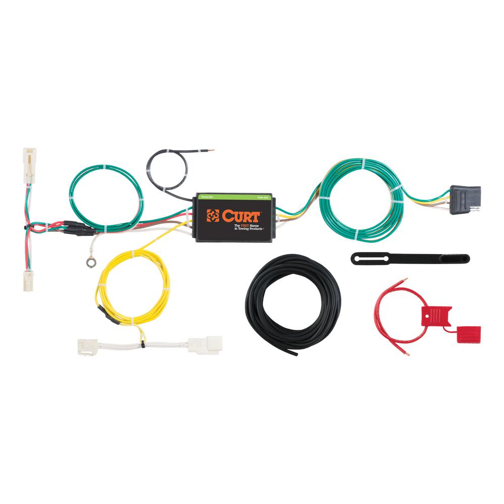 Cool Curt Custom Wiring Harness 4 Way Flat Output 56263 The Home Depot Wiring Digital Resources Funapmognl
