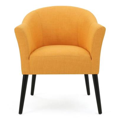Cosette Orange Fabric Armchair