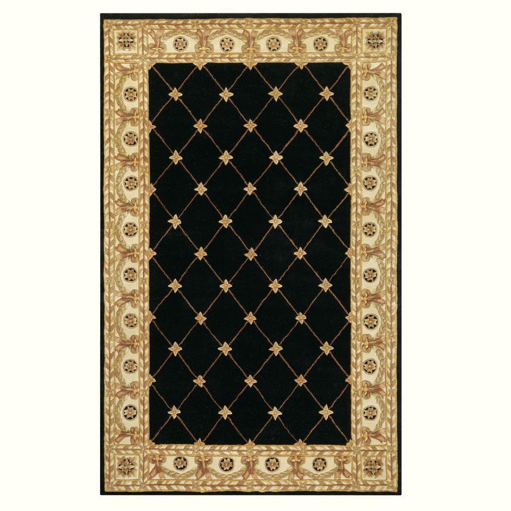 Windsor Black 4 ft. x 6 ft. Area Rug