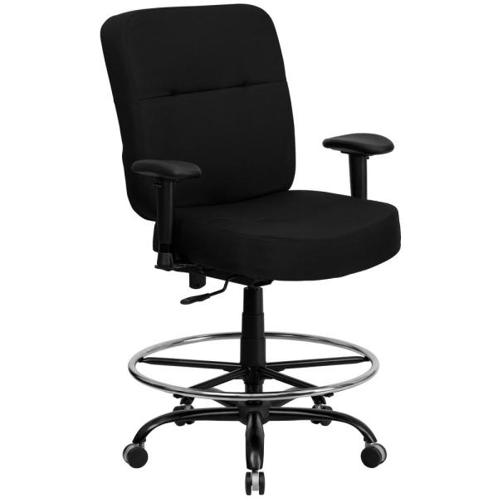 Flash Furniture Black Fabric Office/Desk Chair WL735SYGBKAD