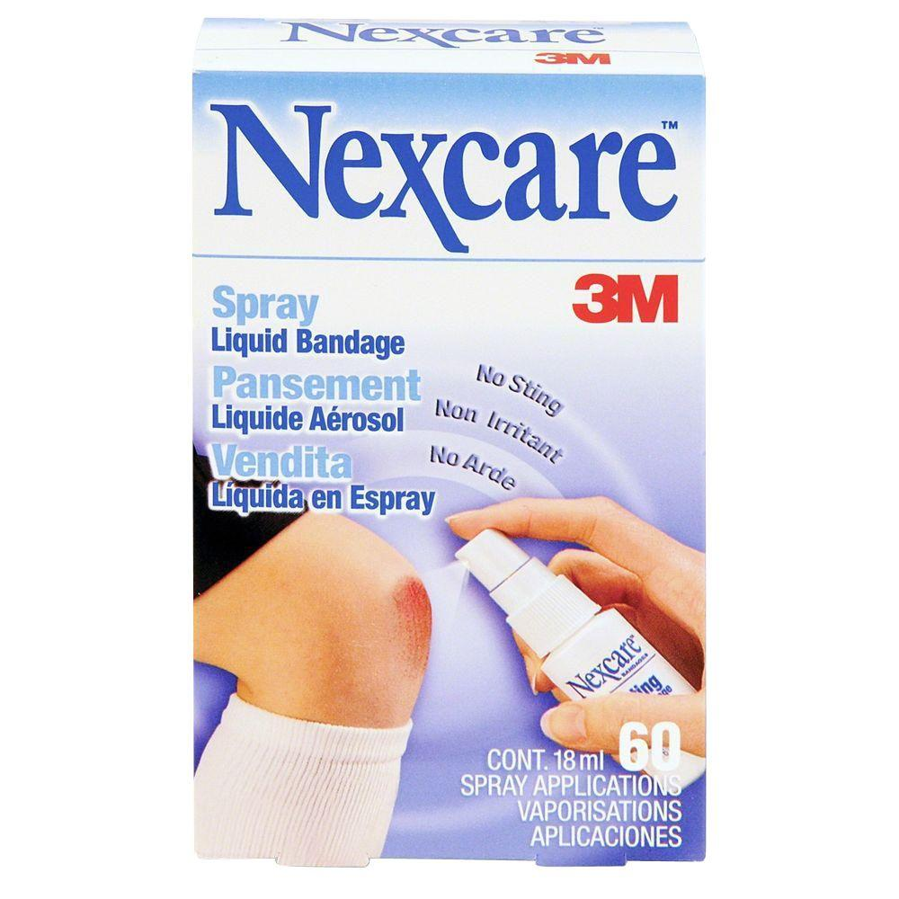nexcare spray liquid bandage mmm11803 the home depot