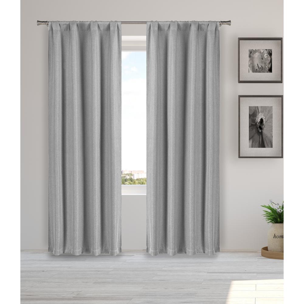 Melita 38 in. W x 84 in. L Polyester Window Panel in Grey