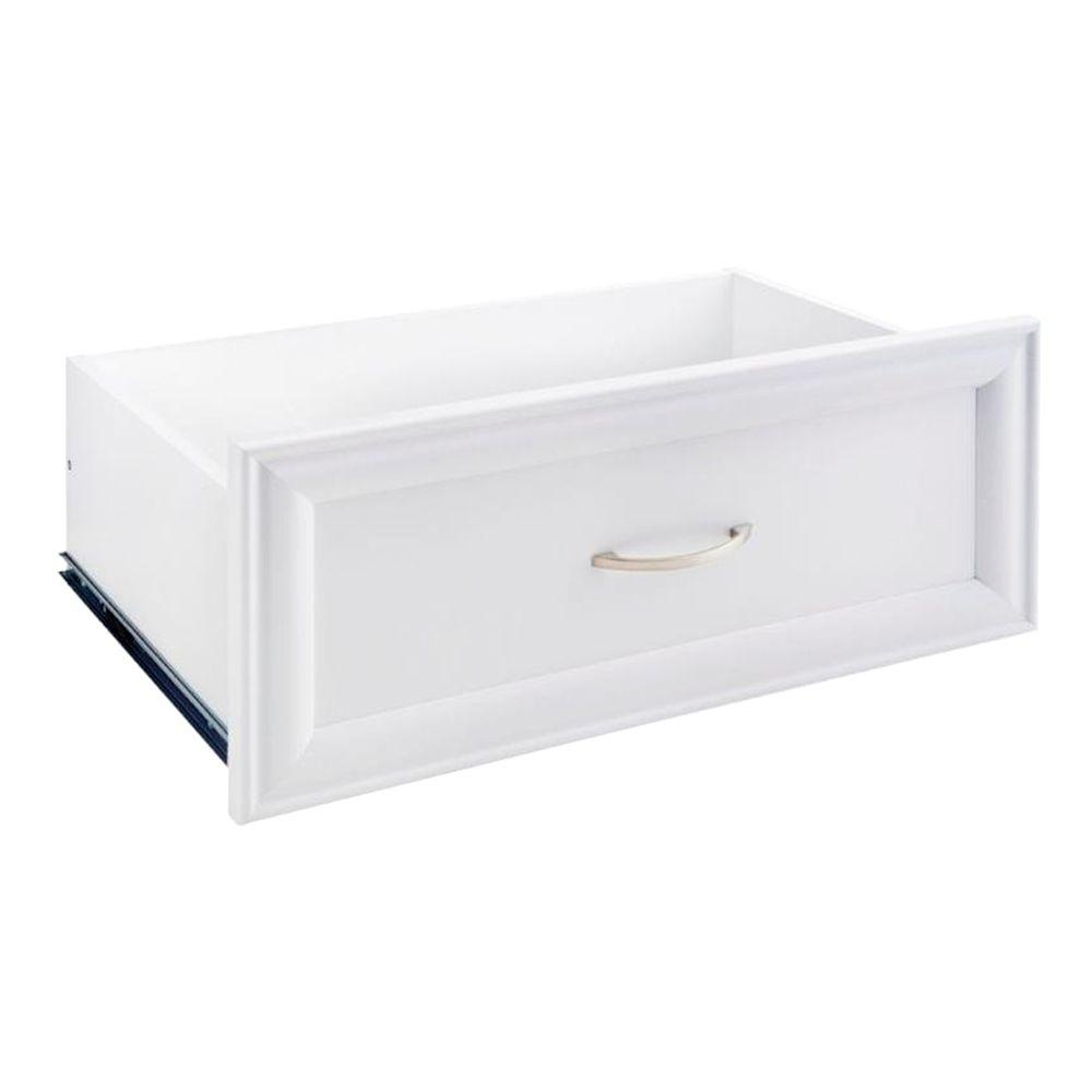 Selectives 23.5 in. x 10 in. Decorative Drawer in White