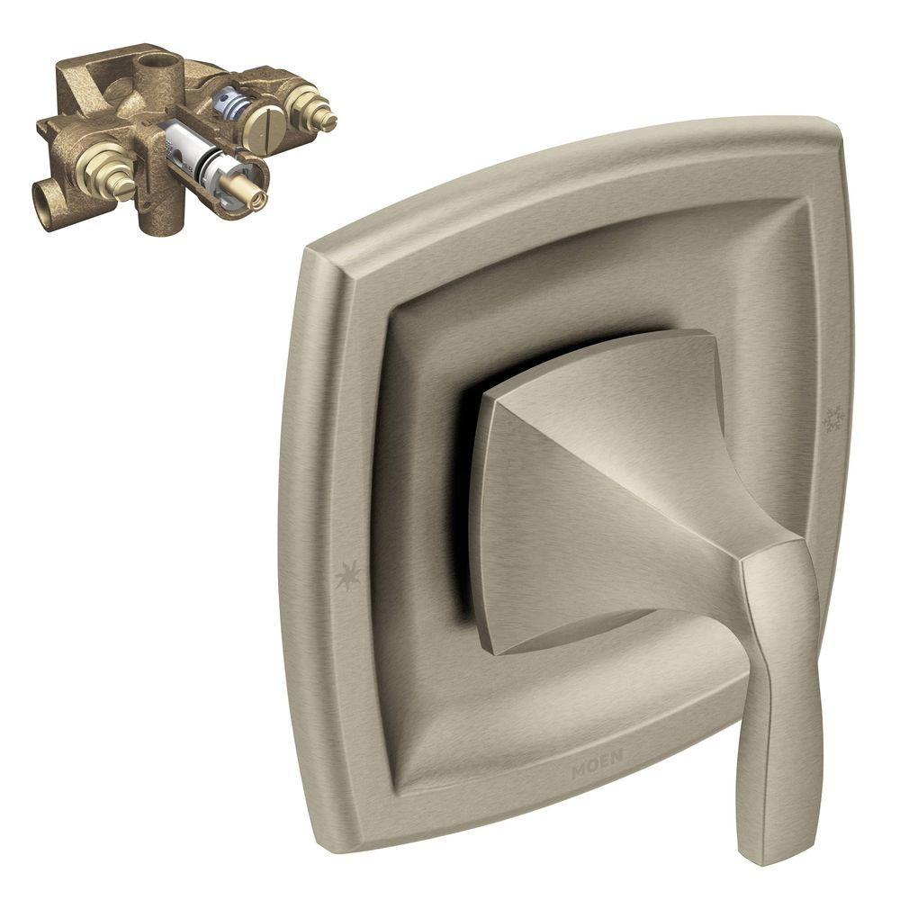 Moen Voss 1 Handle Moentrol Valve Trim Kit In With Valve Brushed Nickel T3691bn 3570 The Home