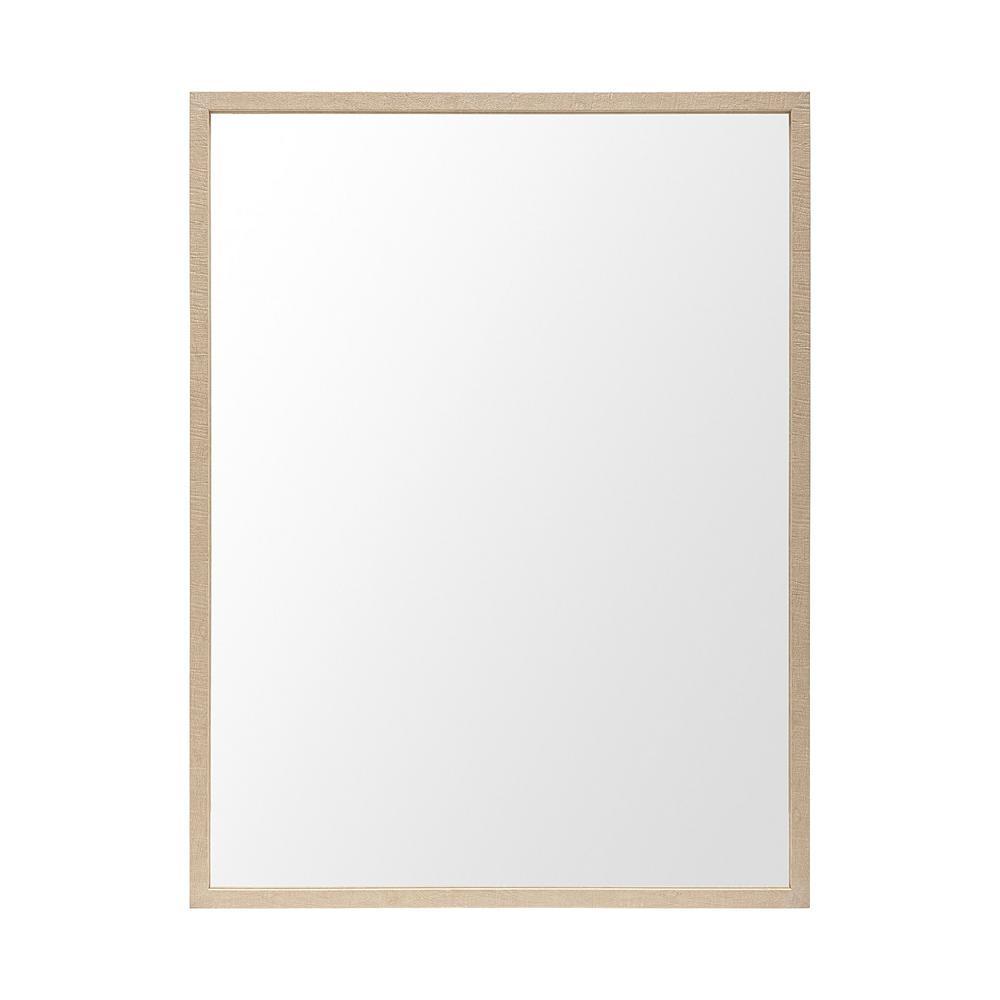 Large Rectangle Tan Modern Mirror (41.5 in. H x 31.5 in. W)
