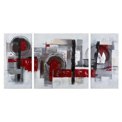 """55 in. x 28 in. """"Collaboration"""" Hand Painted Contemporary Artwork"""
