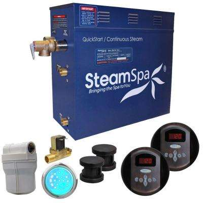 Royal 10.5kW QuickStart Steam Bath Generator Package with Built-In Auto Drain in Oil Rubbed Bronze