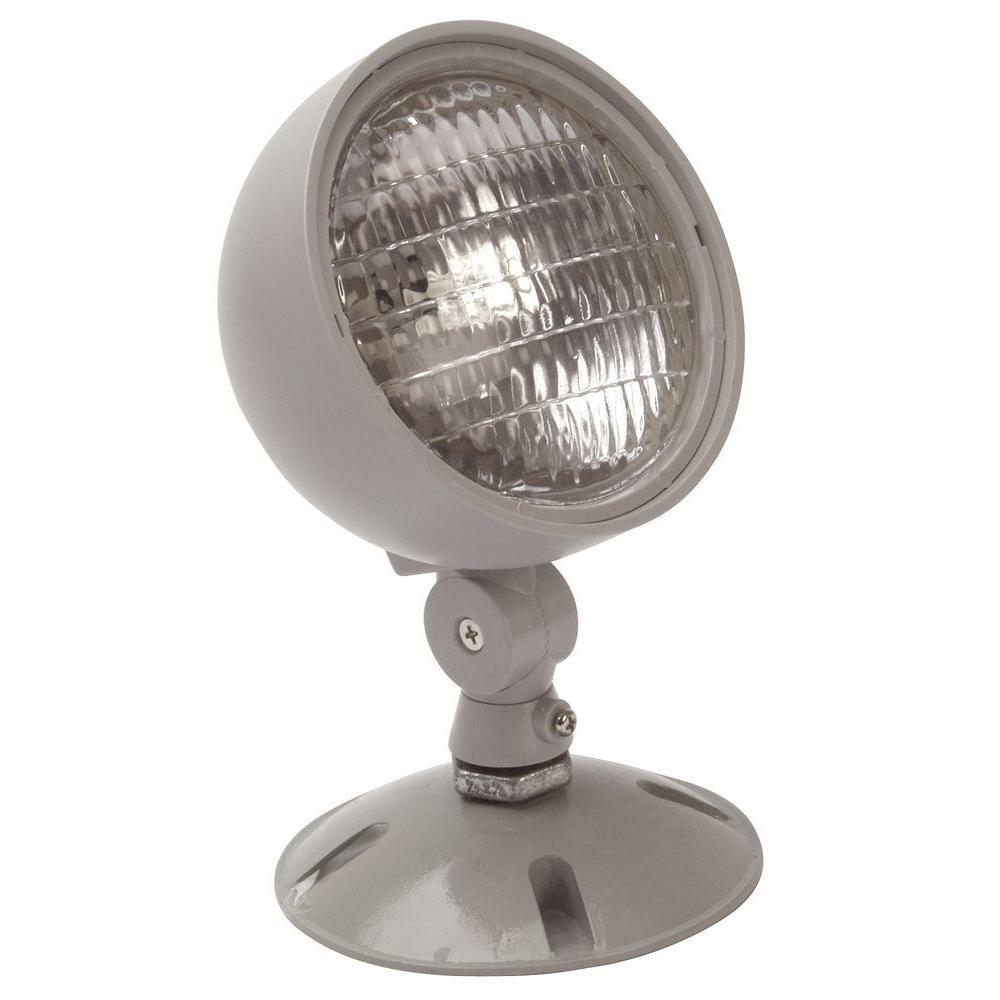 Nicor 7.2-Watt Single Head Weatherproof Indoor/Outdoor Emergency Remote Lamp Fixture