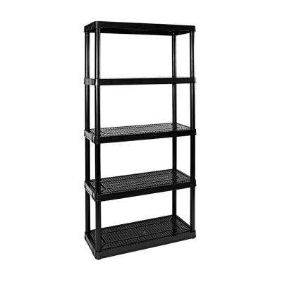 Medium-Duty Non Adjustable Ventilated 5-Shelf Storage Shelving