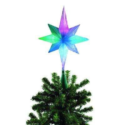 Animation Christmas Tree Decorations Frosty Star Color Changing Led Topper