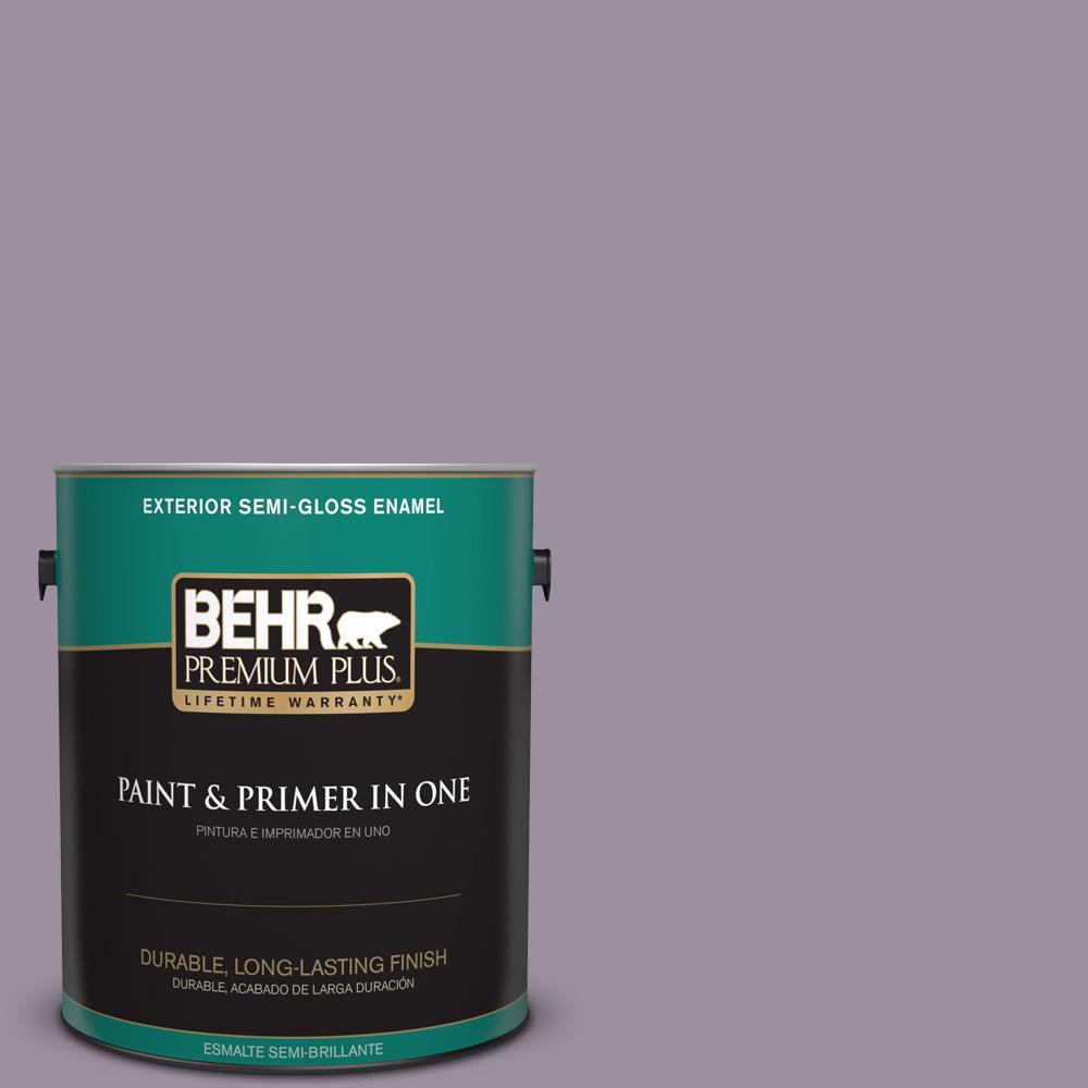 1 gal. #PPU16-13 Duchess Lilac Semi-Gloss Enamel Exterior Paint