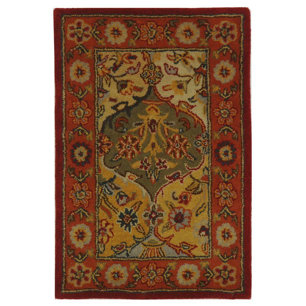 Heritage Multi/Red 2 ft. 3 in. x 4 ft. Area Rug