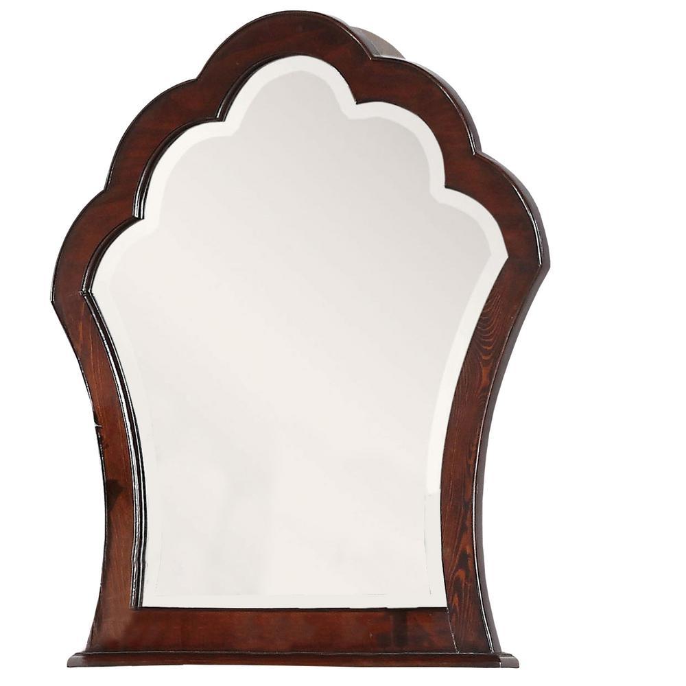 Medium Irregular Brown Modern Mirror (38 in. H x 2 in. W)